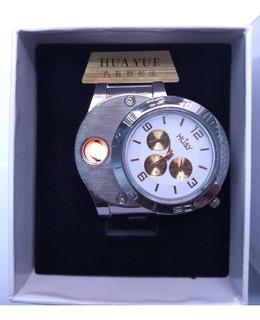 Reloj Encendedor Recargabl A Prueba De Viento Regalo Amigo