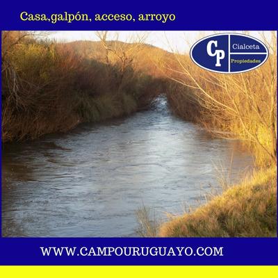 Chacra Con Arroyo, Casa Y Galpón, Se Financia !!