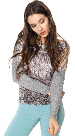 Sweater Lanilla Estampa Exclusiva Mia Loreto Modelo Belina