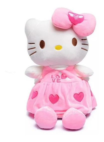 Mochila Hello Kitty Plush Rosa Claro
