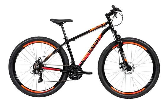 Bike Caloi Vulcan Aro 29 Alumínio Susp Diant 21 Vel - Preto