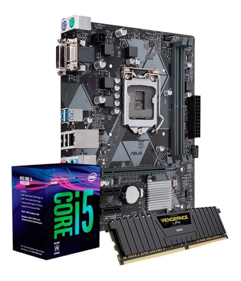 Kit I5 8400, Placa Asus H310, 2 X 8gb Ddr4 2666 Corsair + Nf