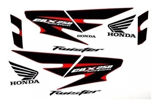 Jogo Adesivos Kit Faixas Cbx 250 Twister 2008 Vermelha 10085