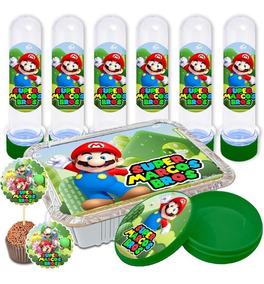 Adesivos Personalizados Lembrancinha 150 Peças Mario Bros