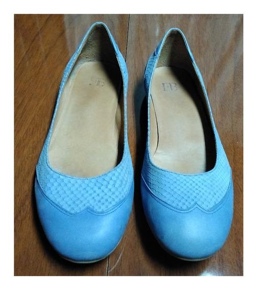 Zapatos Febo Chatitas Azules Lavanda Nº 38