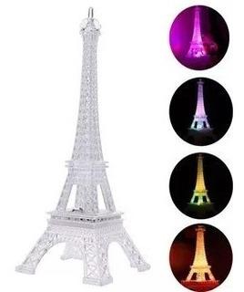 22 Torre Eiffel Luz Led 25cm Solo Luz + 12 Velas Sumergibles