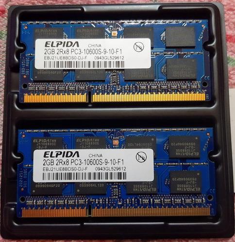 Memoria Elpidia 4gb Ddr3 - 1333 (2 X 2gb) P/dell Studio 1557