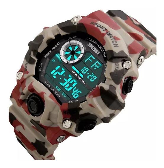 Relógio Skmei Masculino Esportivo Militar À Prova D