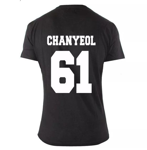 Camiseta Feminina Exo Kpop Chanyeol 61 Integrantes