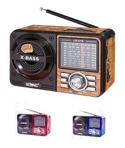Radio Portatil 616 - Am Fm Sw Usb Cartao Sd Aux Lanterna Led
