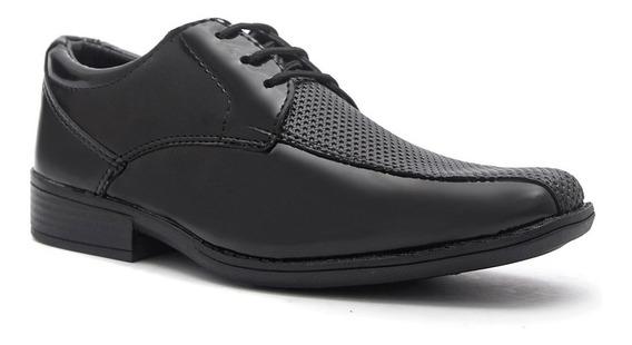 Sapato Social Infantil Masculino Couro Ecológico 10