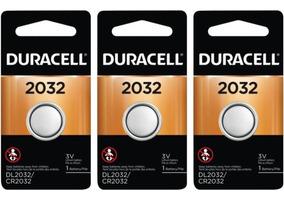 Kit 3 Duracell Cr2032 Baterias De Lítio Metálico