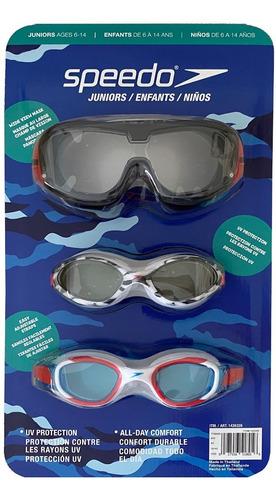 Imagen 1 de 7 de Gafas De Natacion Speedo Set X 3 Junior 6 -14