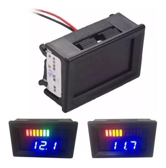 Voltímetro Digital 12v Medidor Bateria Porcentagem Som Autom