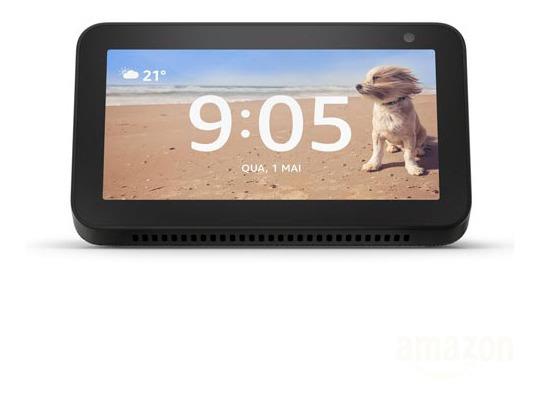 Smart Speaker Amazon Com Tela 5.5 E Alexa Preto - Ecshow5