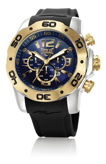 Relógio Pulso Everlast Masculino Cronógrafo Aço E553