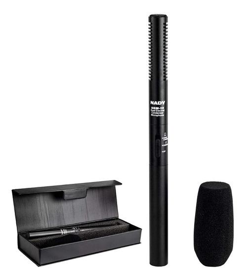 Microfone Direcional Shotgun Xlr Filmadora Dslr Nady Sgm-12