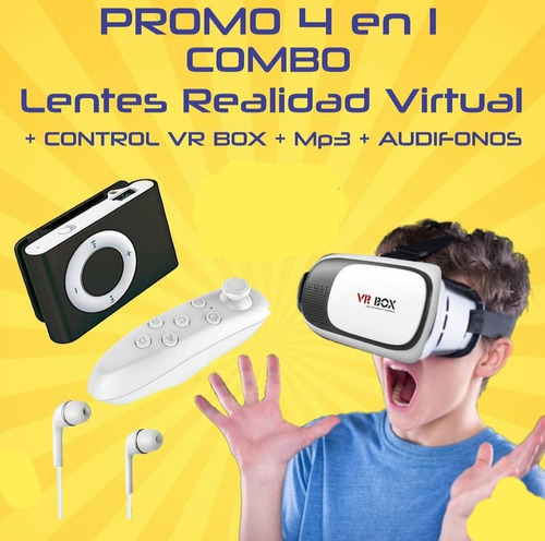 Lentes De Realidad Virtualpromo De 4 En 1combo