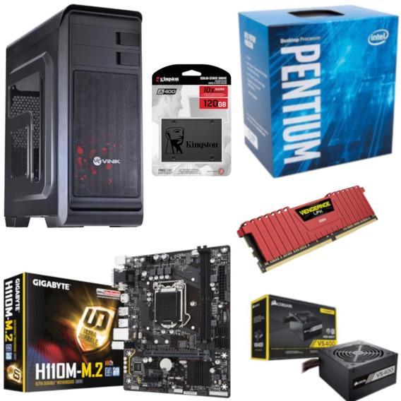 Pc Hunter Pentium G4560 H110m M2 Vg 8gb Vs400 Ssd 120gb