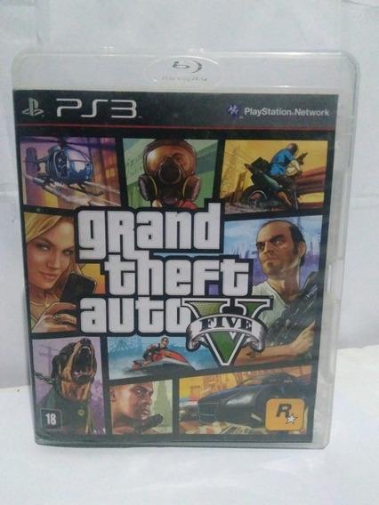 Jogo Gta 5 Grand Theft Auto M. Fisica E Mapa Fisico Ps3 R$85