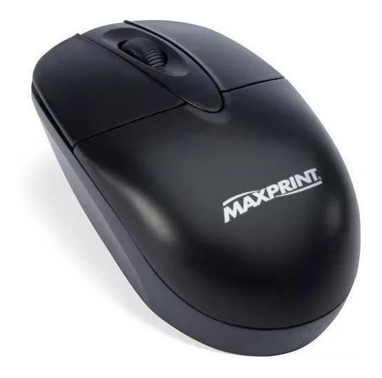 Mouse Óptico Usb Preto Maxprint A003