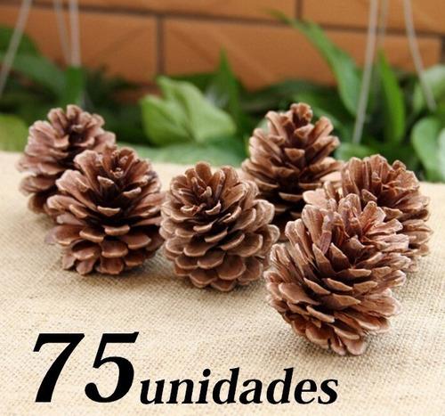 75 Pinhas Arvore De Pinos Natural Enfeite Natal Artesanato