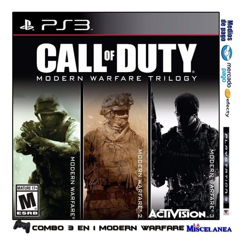 Call Of Duty Modern Warfare Bundle Ps3 Digital | Trilogy