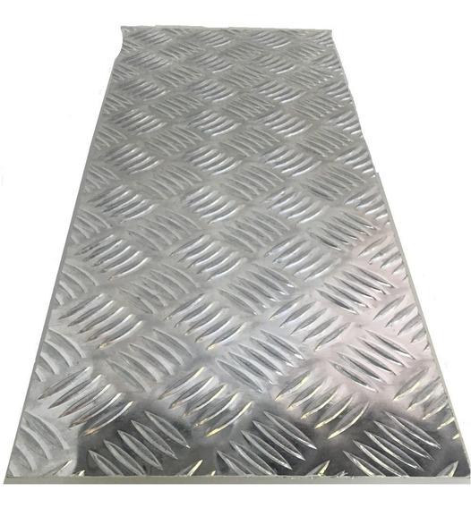 Chapa Aluminio Lavrada Xadrez 1000x500mm Na Esp. De 1,2mm