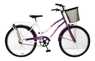Bicicleta Urbana Paseo Nena Rod 24 Canasto Sportcruiser 5215