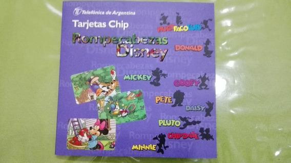 Tarjetas Telefonicas Disney Rompecabezas 8 Fichas Completo
