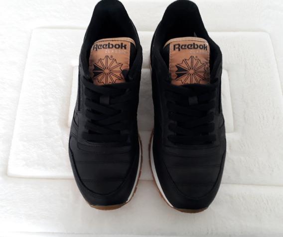 Tênis Couro Reebok Classic Leather Boxing Preto