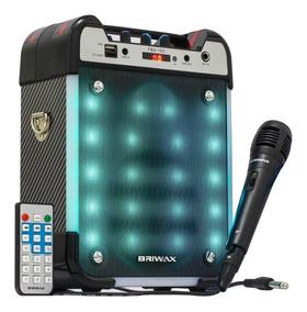 Caixa De Som Amplificada Bluetooth 25w Portátil Karaokê Fm