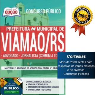 Apostila Prefeitura Viamão Rs - Advogado E Jornalista