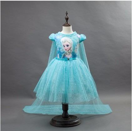 4c4c3aef1 Vestido Fantasia De Festa Infantil Frozen Elsa Ana Brinde - R$ 99,99 ...