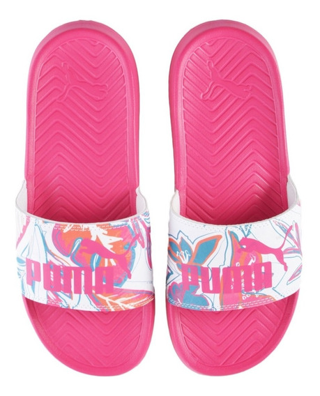 Chinelas Puma Pop Cat Flower Power Fuc-bla De Mujer