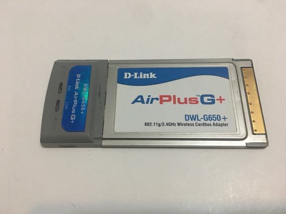 Placa Pcmcia Wifi D-link Airplusg+ G Wireless