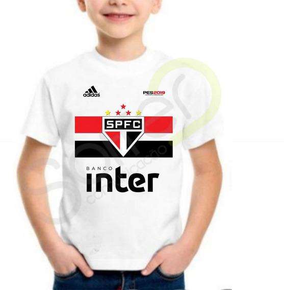 Camiseta Infantil São Paulo 2018 Personalizada Com Nome