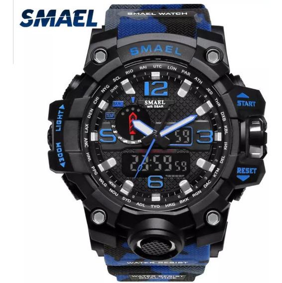 Relógio Smael Camuflado Original 5atm .