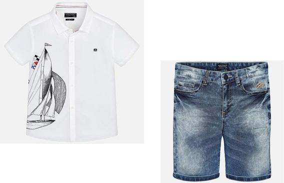 Mayoral Conjunto Camisa Y Bermudas Para Niño 6125 #8 Años