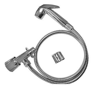 Ducha Higienica Para Banheiro Flexivel Cromada Em Metal Luxo