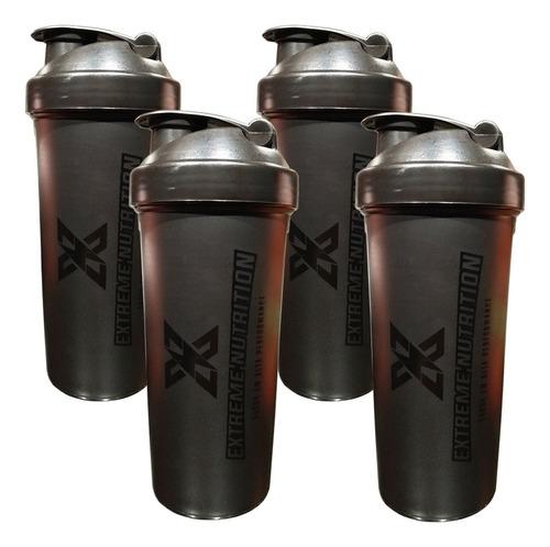 Imagem 1 de 1 de Kit Com 4 Coqueteleiras Preta 700ml Extreme Nutrition