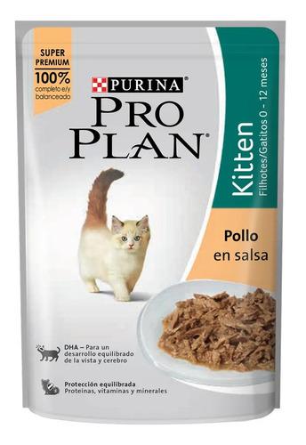 Imagen 1 de 1 de Alimento Pro Plan Kitten para gato de temprana edad sabor pollo en salsa en sobre de 85g