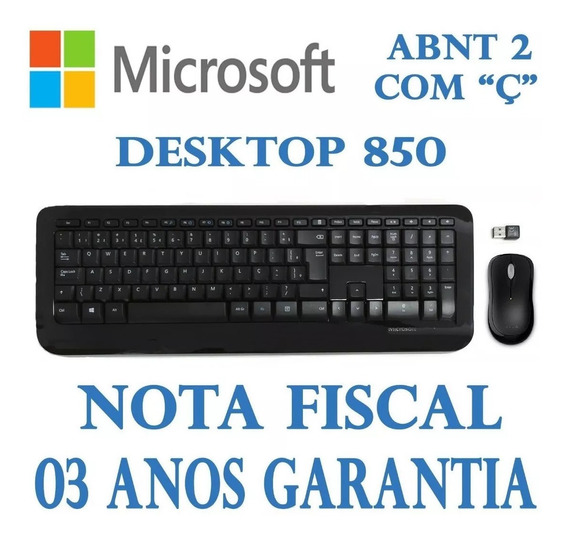 Microsoft Wireless Desktop 850 - Kit Mouse Teclado Sem Fio