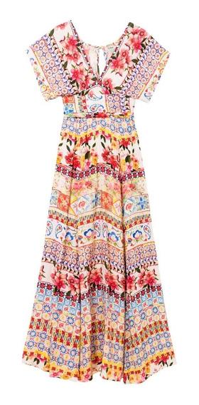 Hermoso Vestido Largo Desigual Primavera Verano