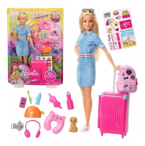 Barbie Vamos De Viaje Accesorios Mattel Fwv25 Oferta Envioya