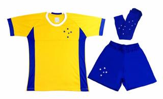 Conjunto Do Cruzeiro De Goleiro Fábio Amarelo Kit Infantil
