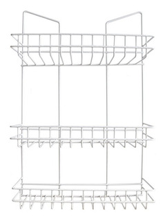 Organizador Colgante 3 Estantes Blanco Cocina Baño Ducha 12c