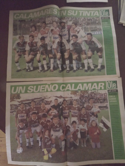 Lote 2 Posters Platense (157) Ole 2000 / 2001