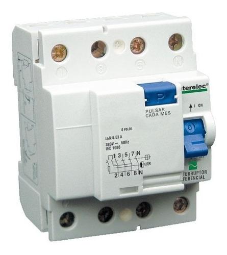 Disyuntor Diferencial Interelec 4x63 63a 415v 4 Polos