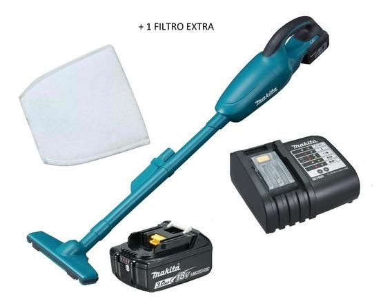 Aspirador Po 18v Dcl180 Makita Bateria 3ah + 1 Filtro Extra